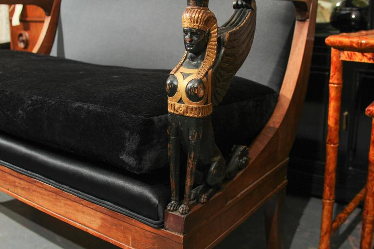 Egyptian Empire style Settee Sofa For Sale 2
