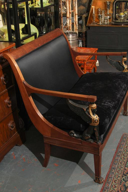 Egyptian Empire style Settee Sofa For Sale 5