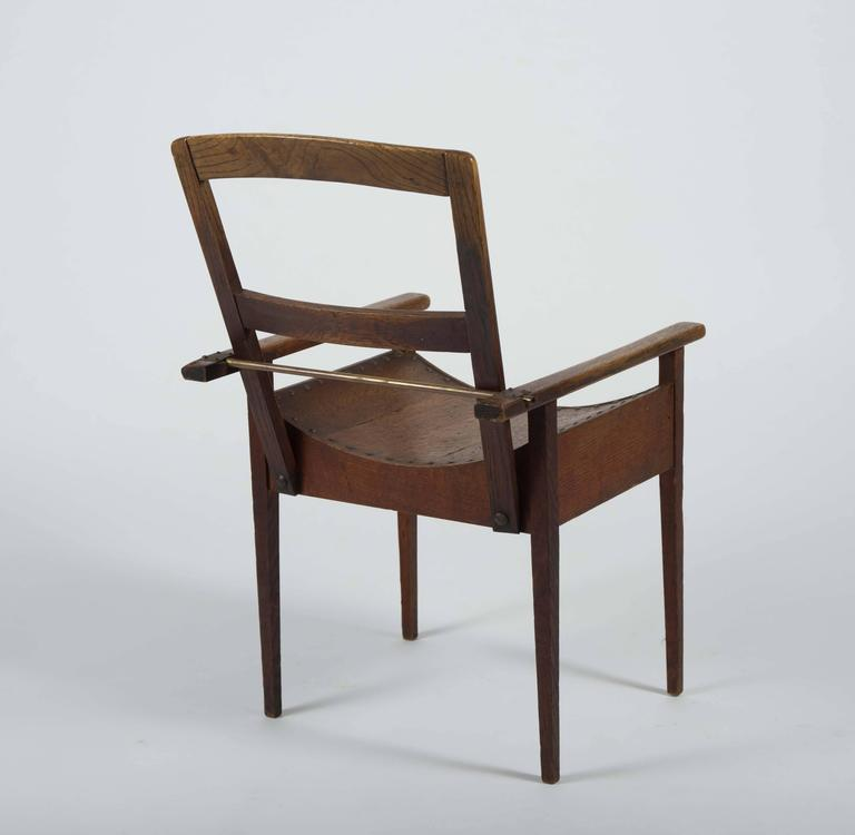 Arts and Crafts Oak and Ash Side Chair In Excellent Condition For Sale In London, GB