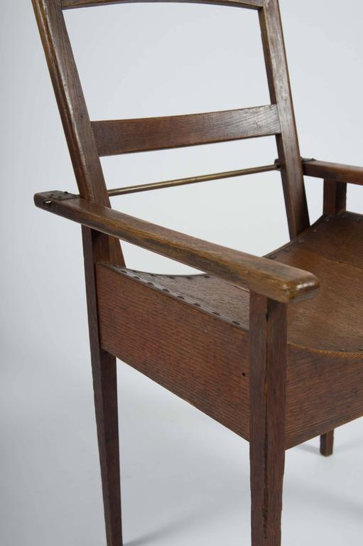 Arts and Crafts Oak and Ash Side Chair For Sale 3