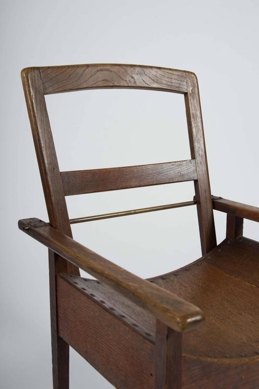 Arts and Crafts Oak and Ash Side Chair For Sale 4