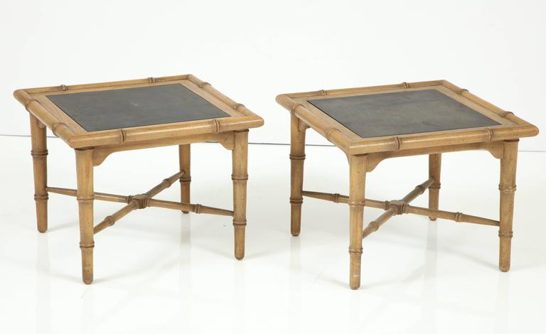 Pair of American Slate Top Tables 2