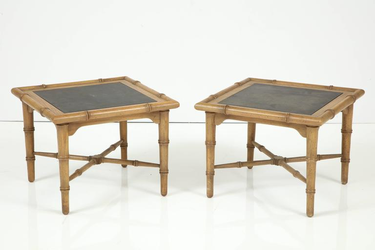 Pair of American Slate Top Tables 3