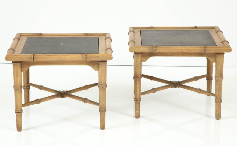 Pair of American Slate Top Tables 4