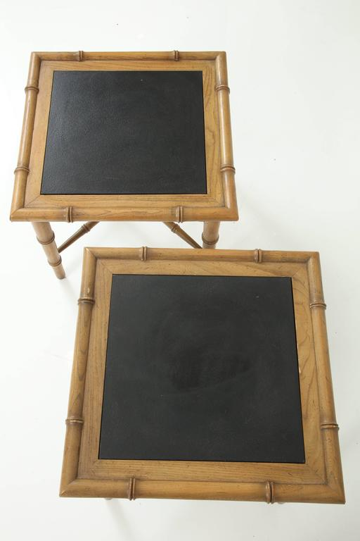 Pair of American Slate Top Tables 7