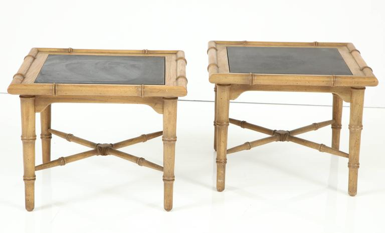 Pair of American Slate Top Tables 9