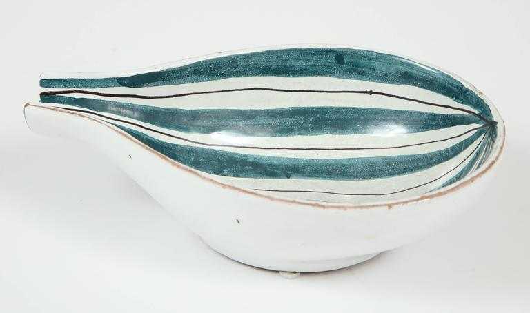 Raymor Ceramic Bowls, Pair In Good Condition For Sale In New York, NY