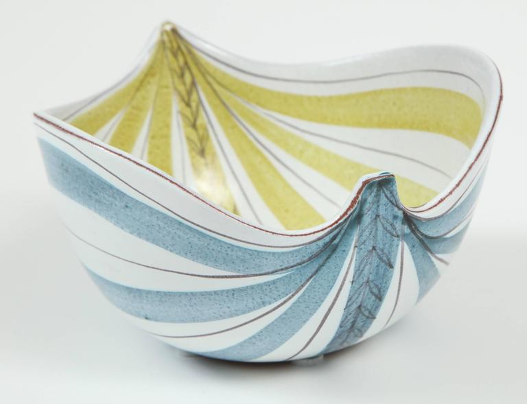 Ceramic Bowl, Stig Lindberg, Sweden, C 1950 6