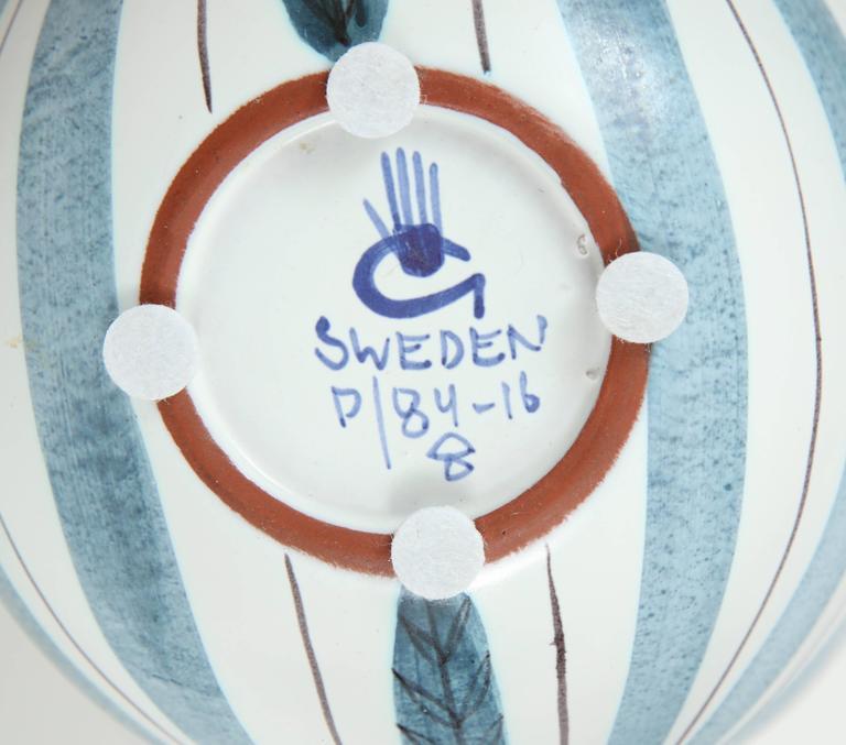 Ceramic Bowl, Stig Lindberg, Sweden, C 1950 8