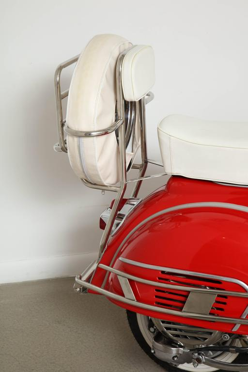 "Fully Restored 1963 Red with White Leather Italian, Piaggio ""Mod"" Vespa 4"