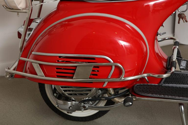 "Fully Restored 1963 Red with White Leather Italian, Piaggio ""Mod"" Vespa 5"