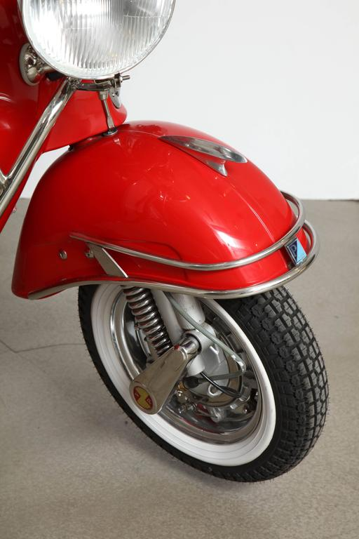 "Fully Restored 1963 Red with White Leather Italian, Piaggio ""Mod"" Vespa 6"