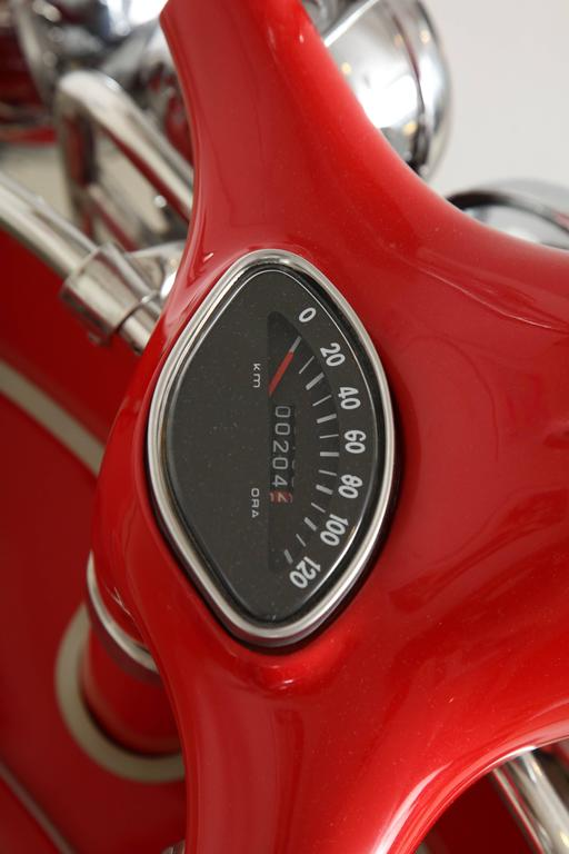 "Fully Restored 1963 Red with White Leather Italian, Piaggio ""Mod"" Vespa 10"