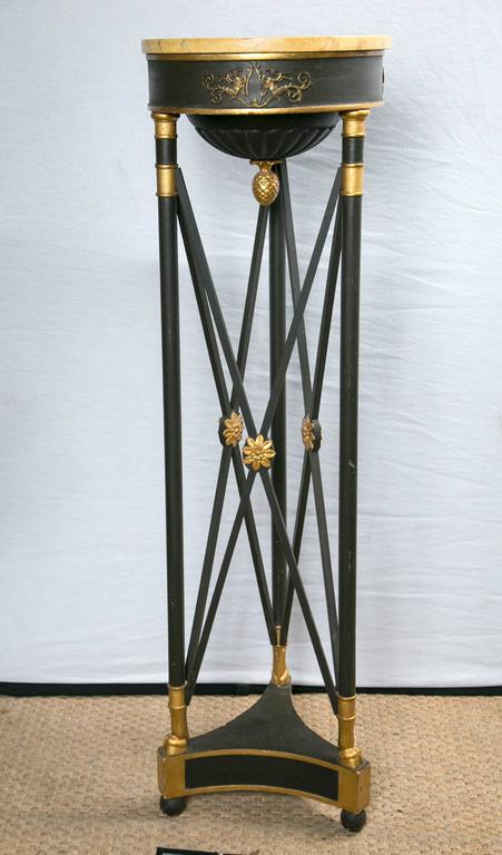 Painted and Gilded Wood Empire Style Torchiers 2