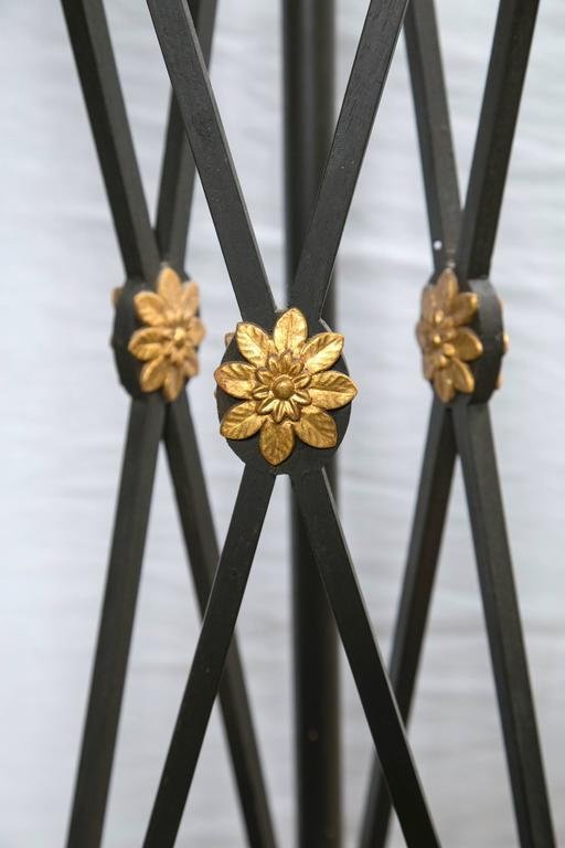 Painted and Gilded Wood Empire Style Torchiers 4