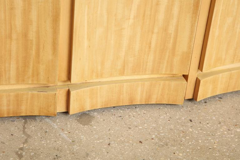 Rare Custom Jay Spectre Bleached Mahogany Sideboard, circa 1984 8