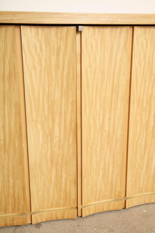 Rare Custom Jay Spectre Bleached Mahogany Sideboard, circa 1984 10