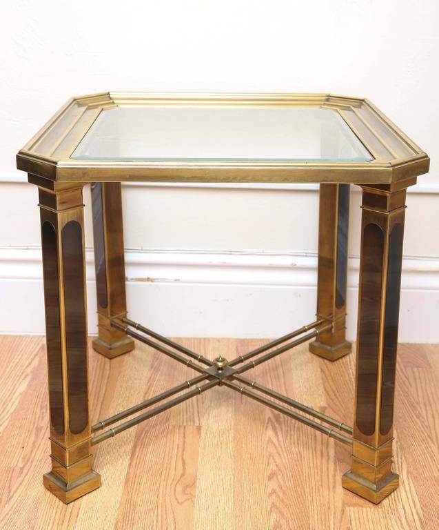 American Vintage Mastercraft Brass Side Table For Sale