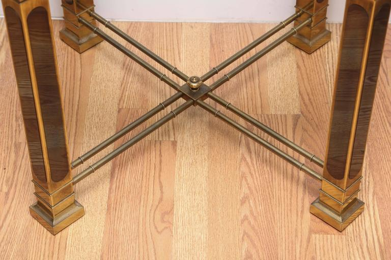 Vintage Mastercraft Brass Side Table In Good Condition For Sale In West Palm Beach, FL