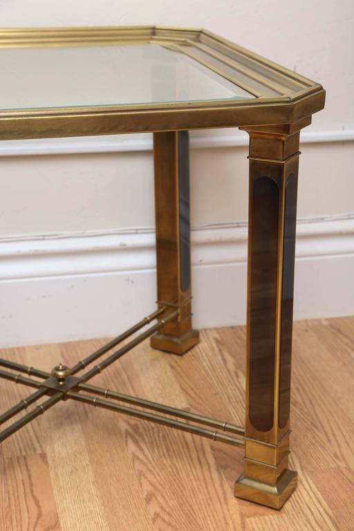 20th Century Vintage Mastercraft Brass Side Table For Sale