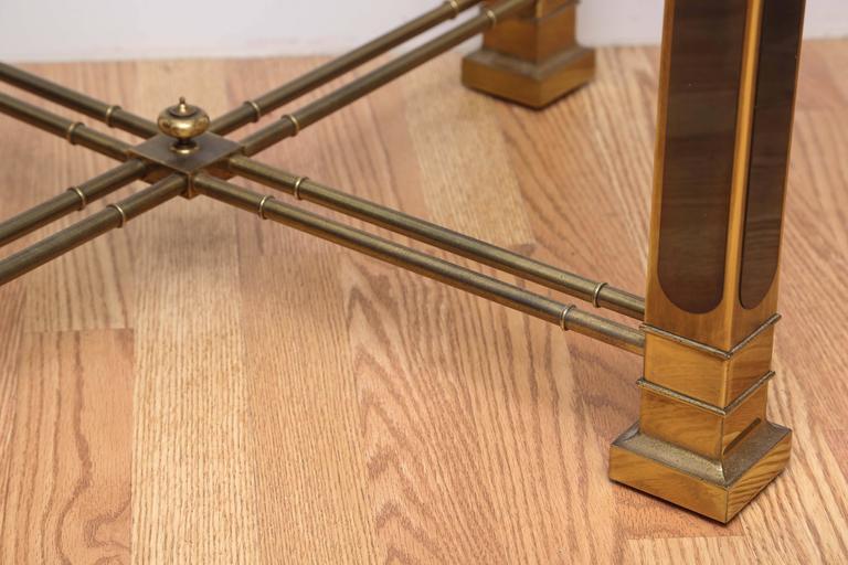 Vintage Mastercraft Brass Side Table For Sale 1