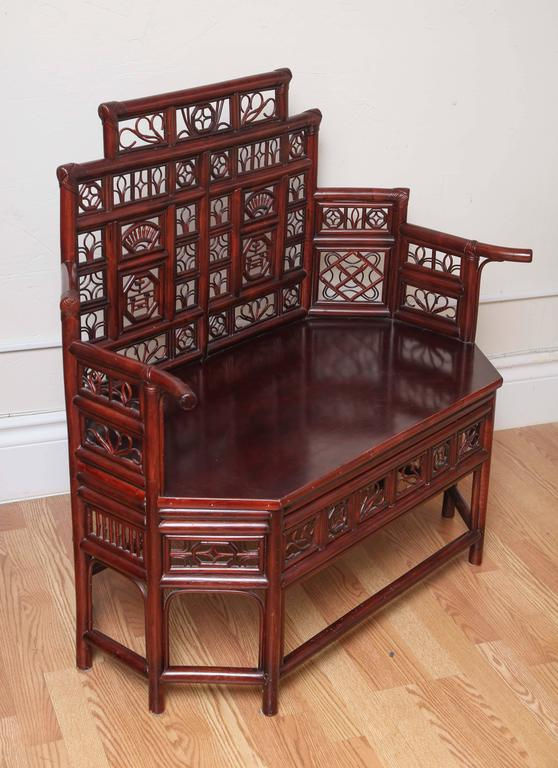 Vintage Rattan Pagoda Style Settee For Sale At 1stdibs