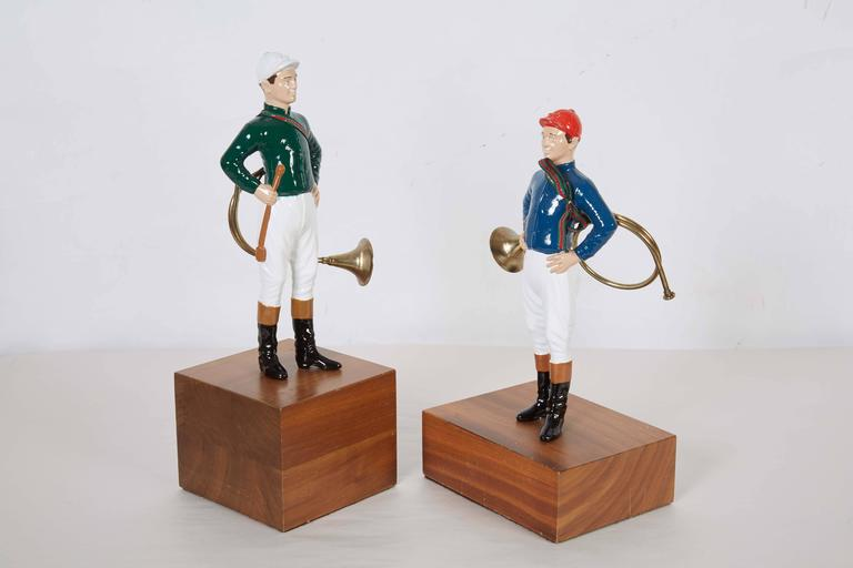 Pair of 21 Club Enamel Painted Tabletop Figurines 5
