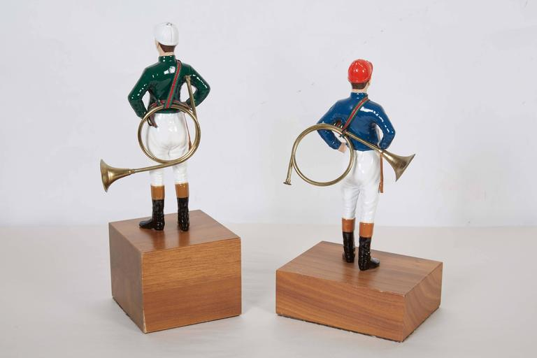 Pair of 21 Club Enamel Painted Tabletop Figurines 7