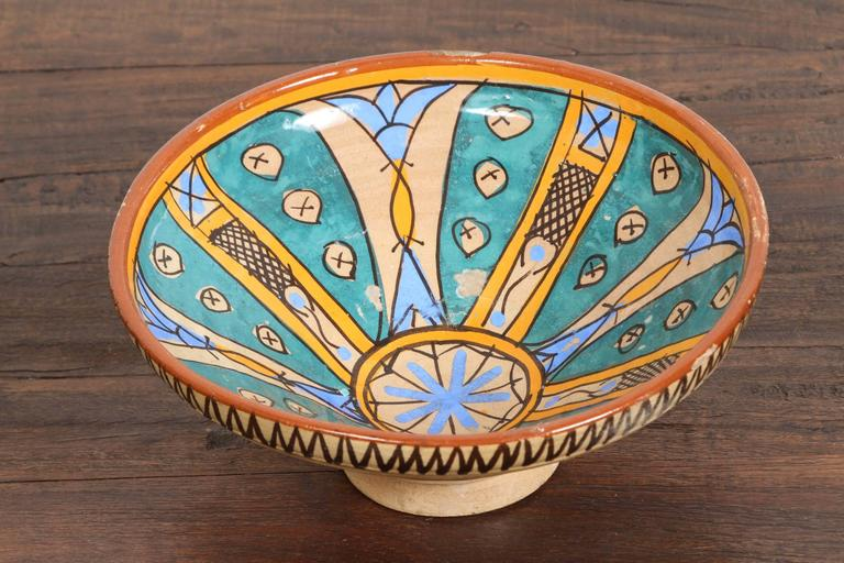 Antique Moroccan Handcrafted Pottery Bowl 2