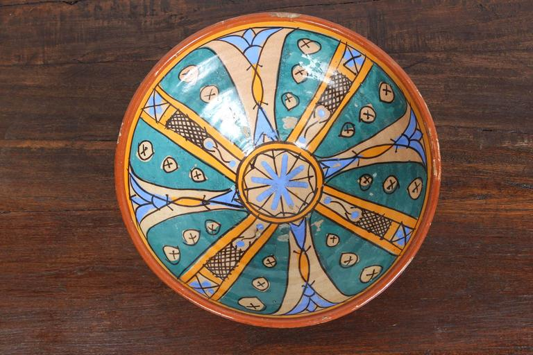 Antique Moroccan Handcrafted Pottery Bowl 4