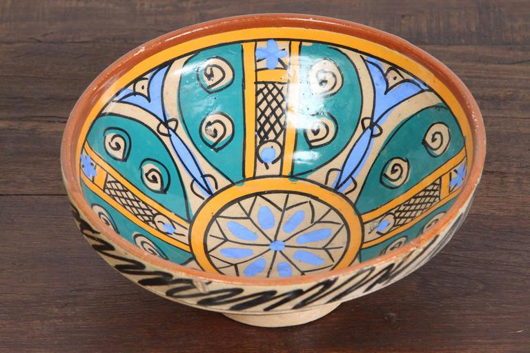 Hand-Crafted 19th Century Handcrafted Moroccan Couscous Bowl For Sale
