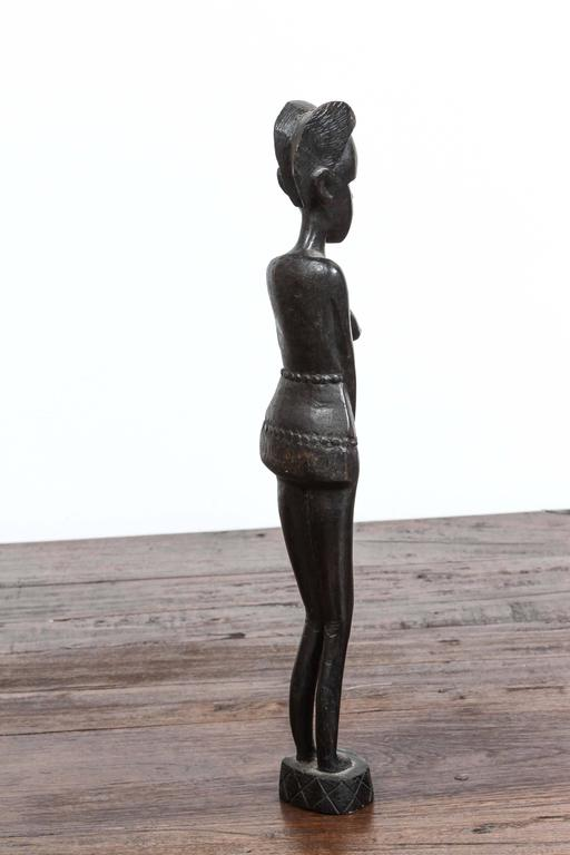 Decorative Hand Carved African Statue From Kenya For Sale