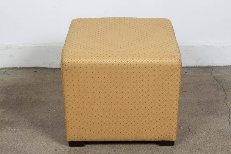 Strange Pair Of Gold Cube Upholstered Moroccan Ottomans Poufs At Theyellowbook Wood Chair Design Ideas Theyellowbookinfo