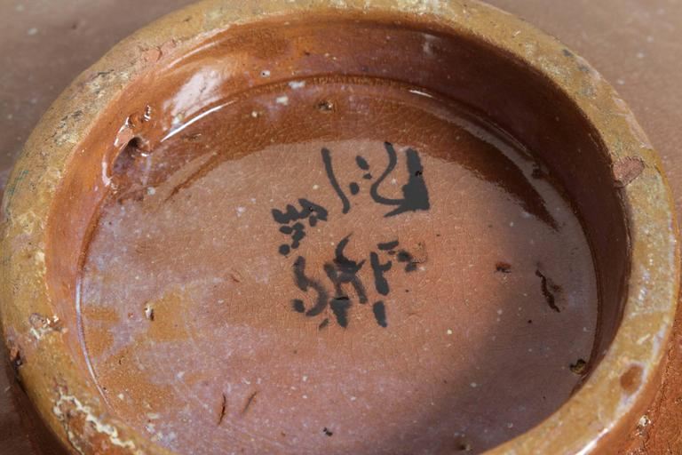 Handcrafted Moroccan Ceramic Bowl Charger In Good Condition For Sale In North Hollywood, CA