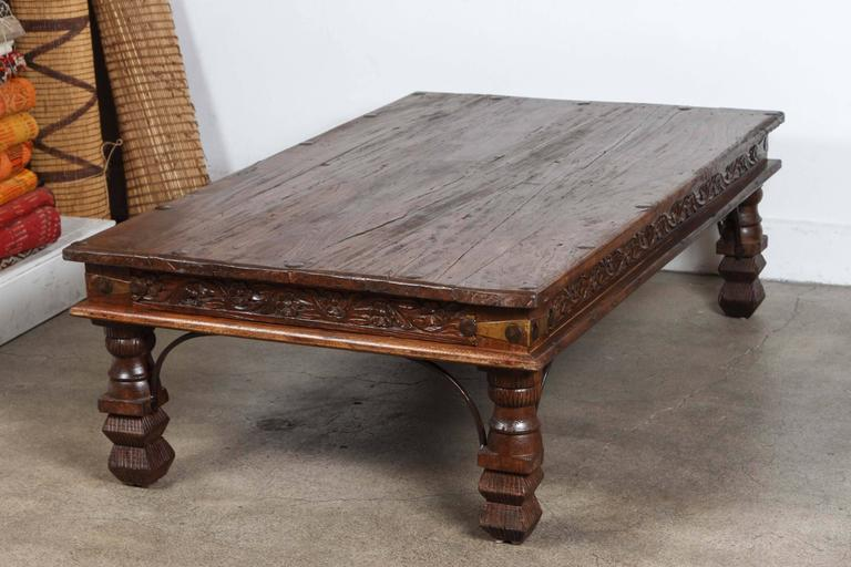 Vintage Anglo Indian Teak Coffee Table 2