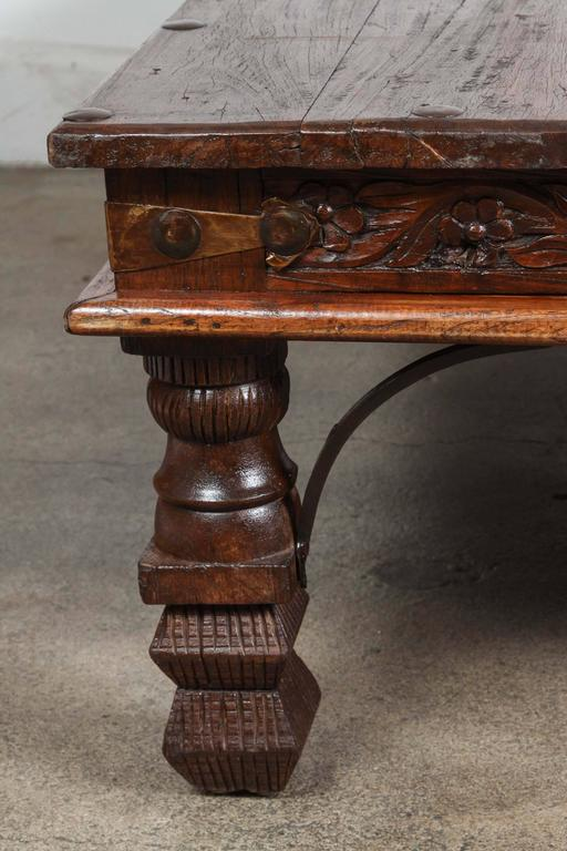 Vintage Anglo-Indian Teak Coffee Table at 1stdibs