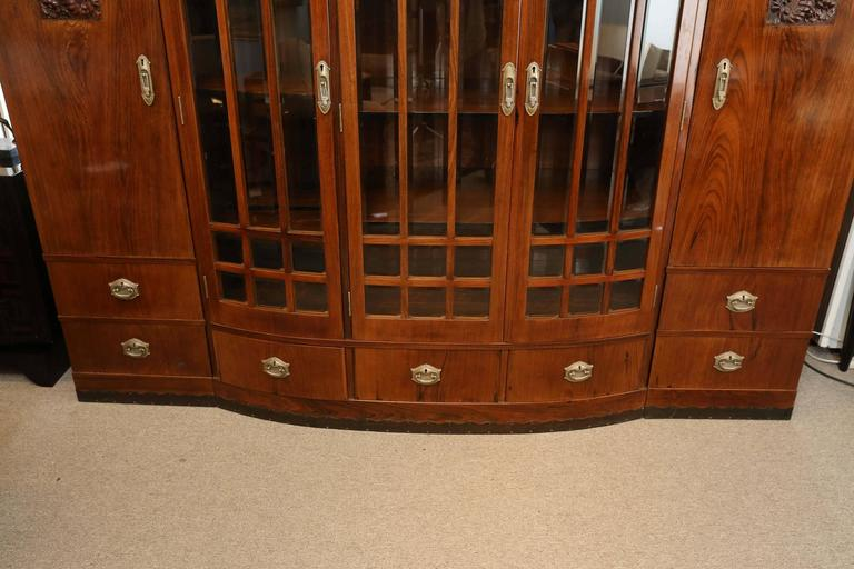 Hungarian Credenza or Bookcase in Palisander Wood from Art Deco period In Excellent Condition For Sale In Houston, TX