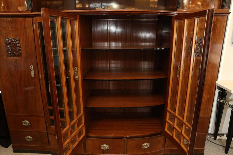 Hungarian Credenza or Bookcase in Palisander Wood from Art Deco period For Sale 1