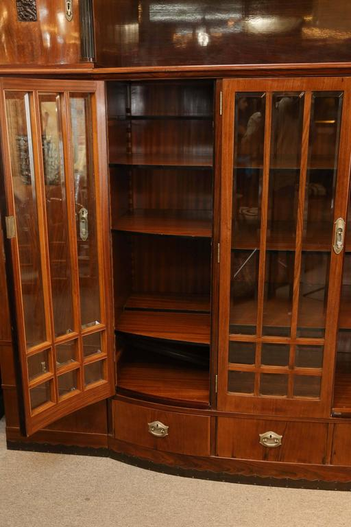 Hungarian Credenza or Bookcase in Palisander Wood from Art Deco period For Sale 2