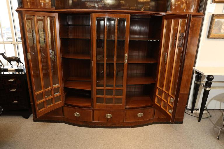 Hungarian Credenza or Bookcase in Palisander Wood from Art Deco period For Sale 3