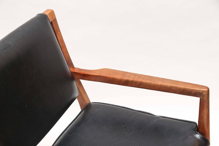 Pair of Mid-Century Modern Danish Teak Armchairs, 1960s, Denmark For Sale 1