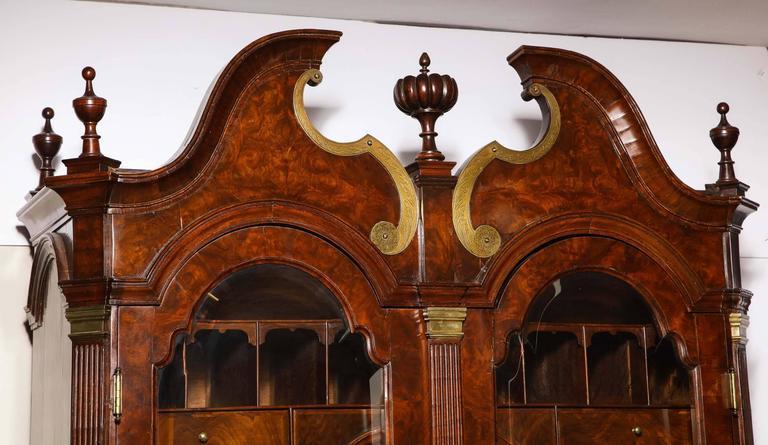 Baroque period burl walnut bureau bookcase for sale at stdibs