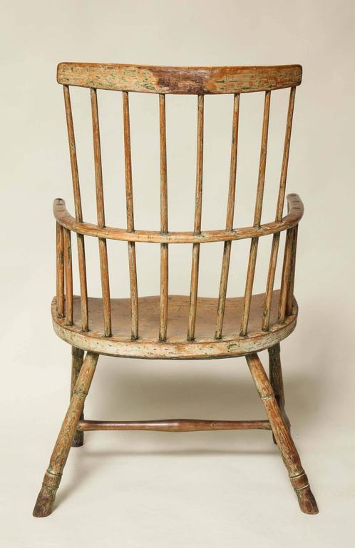 18th Century English Comb Back Windsor Armchair For Sale 4