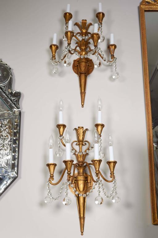 Pair of Louis XVI Style Bras de Lumière 3