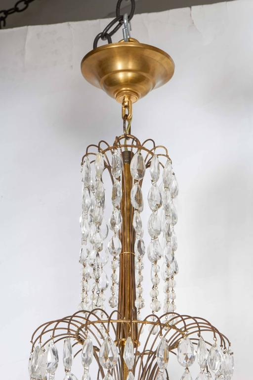 Beaded and Decorated Gilt-Brass Chandelier  2
