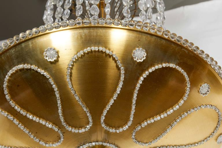 Beaded and Decorated Gilt-Brass Chandelier  6