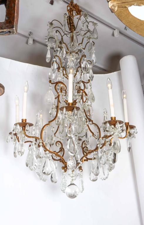 Impressive Louis XV Style Gilt Bronze and Rock Crystal Chandelier 3