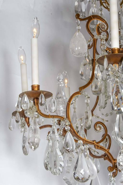 Impressive Louis XV Style Gilt Bronze and Rock Crystal Chandelier 4