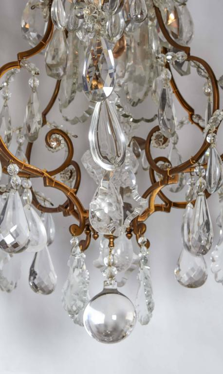 Impressive Louis XV Style Gilt Bronze and Rock Crystal Chandelier 5