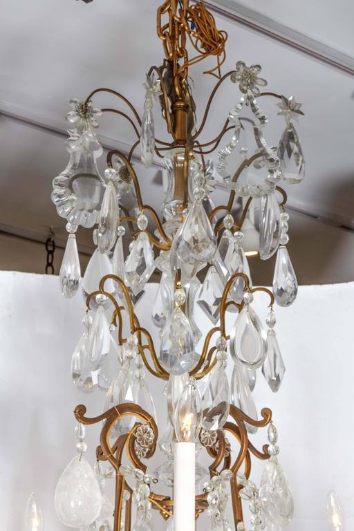 Impressive Louis XV Style Gilt Bronze and Rock Crystal Chandelier 6